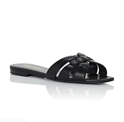 Nu Pieds Leather Slide Sandals