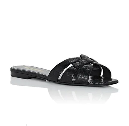 Nu Pieds Leather Slide Sandals