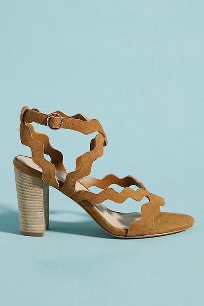 Paige Sage Scalloped Heels