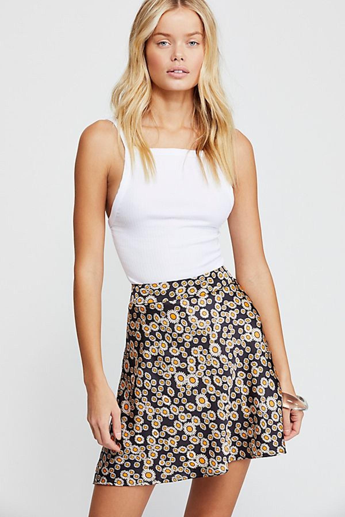 Phoebe Printed Mini Skirt