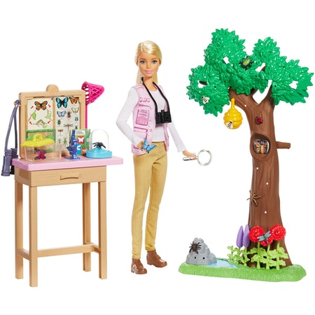 Barbie National Geographic Entomologist Doll and Themed Playset