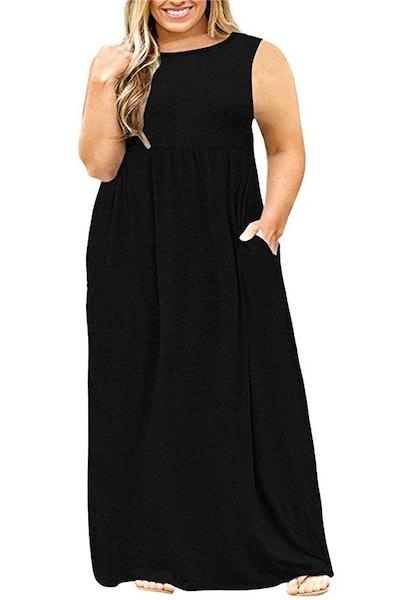 Nemidor Short Sleeve Plus Size Maxi Dress
