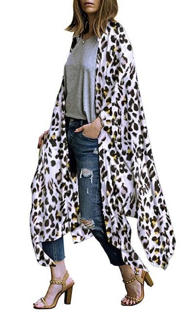 Hibluco Women's Sheer Chiffon Kimono