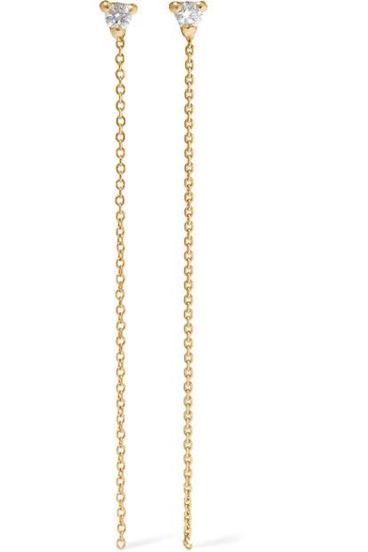 WWAKE NET SUSTAIN 14-Karat Gold Diamond Earrings