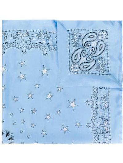 Blue Silk Bandana