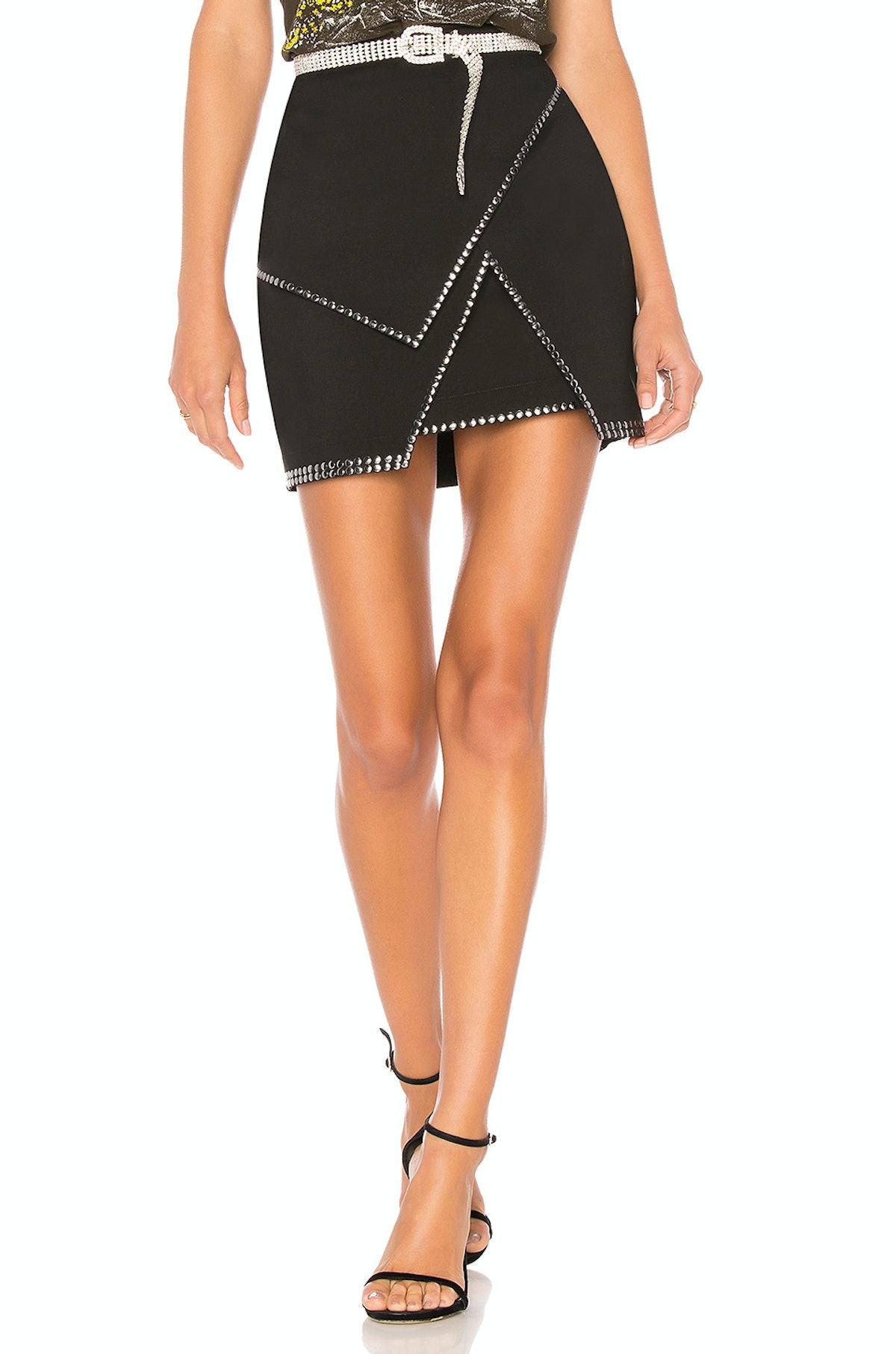 Superdown Carly Studded Mini Skirt