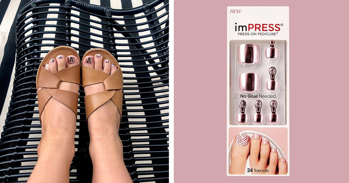 This imPress Press-On Pedicure Review Makes Me Wish I Tried A Faux Pedi Way Sooner