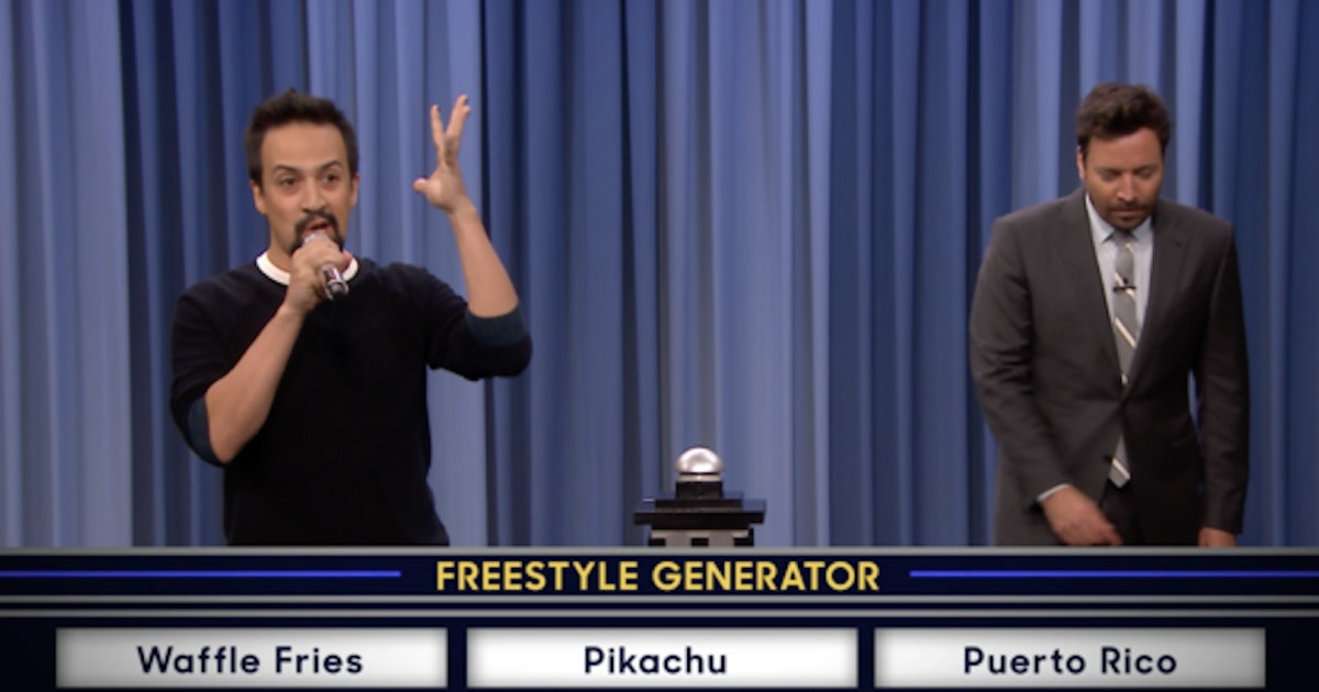 Lin-Manuel Miranda's 'Tonight Show' Freestyle About Pikachu Will Make You Want To Catch 'Em All — VIDEO