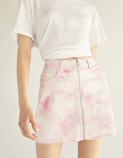 Tie-dye Denim Skirt