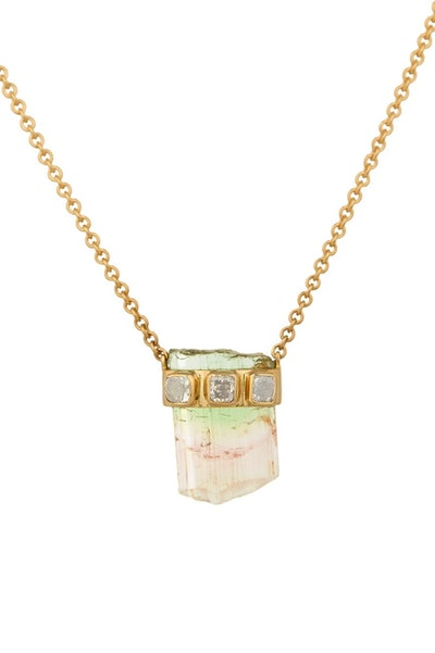 Tourmaline and Diamond Necklace