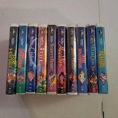 Disney VHS Black Diamond Job Lot Of Ten