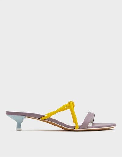 Neon Knot Sandals