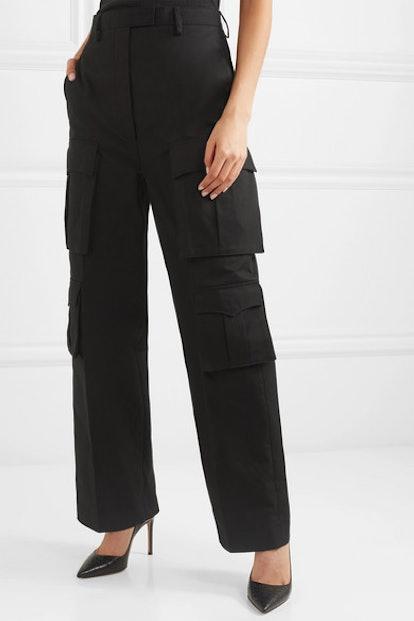 Cotton-Gabardine Cargo Pants