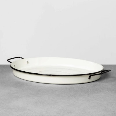 Enamelware Oval Serve Tray