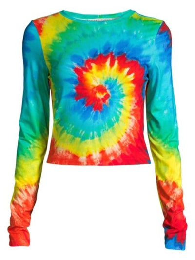 Delaina Rainbow Tie Dye Crew Top