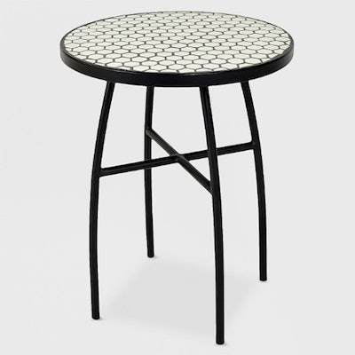 Mosaic Honeycomb Indoor/Outdoor Accent Table