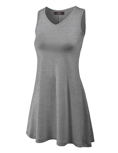 MBJ Womens Sleeveless Comfy Tunic Tank Top