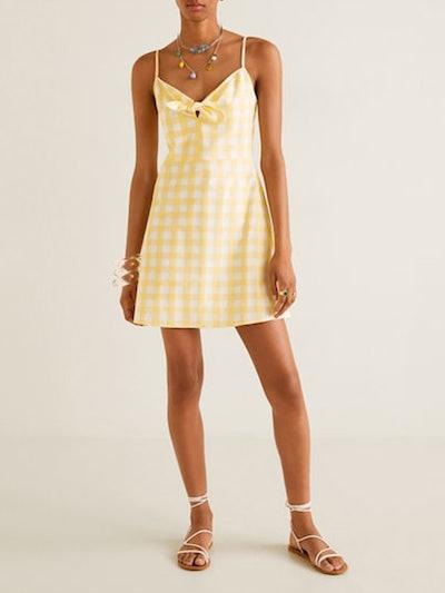 Gingham Check Bow Dress