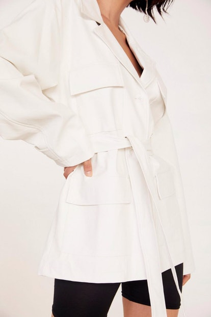 Take Cover Faux Leather Belted Jacket