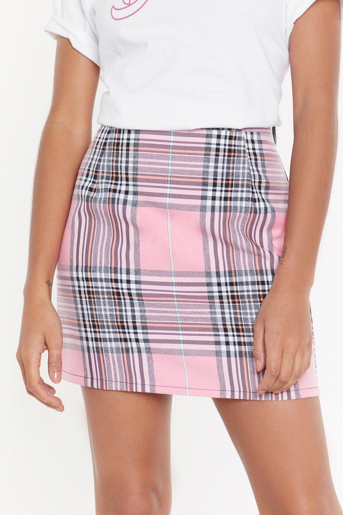Checks Accepted Mini Skirt
