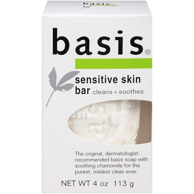 Basis Sensitive Skin Bar Soap (Pack of 6)