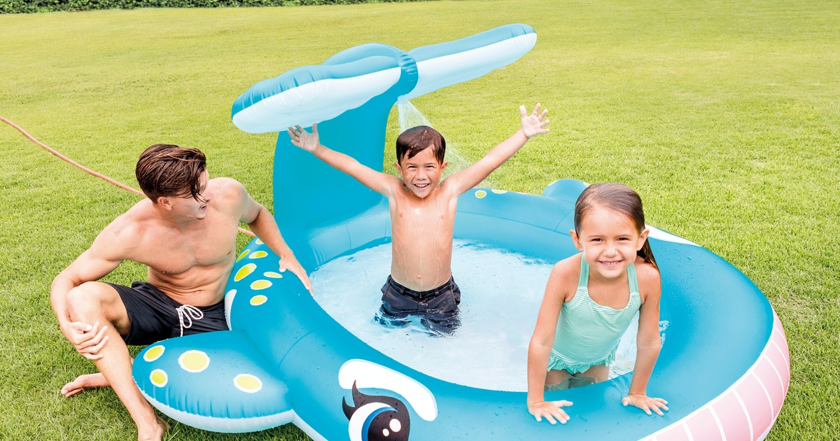 Aldi's Whale-Shaped Kiddie Pool With Built-In Sprinkler Is The Cure For Summer Boredom