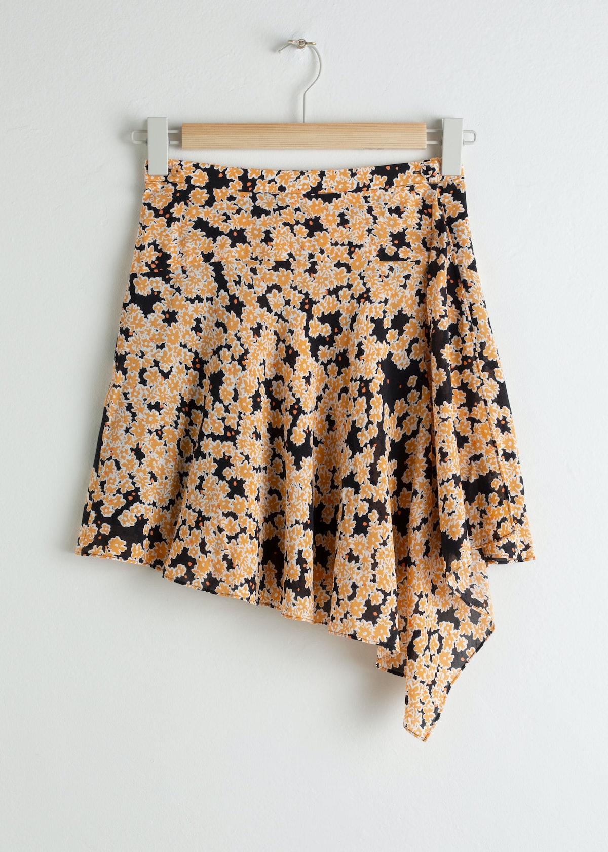 Floral Handkerchief Mini Skirt