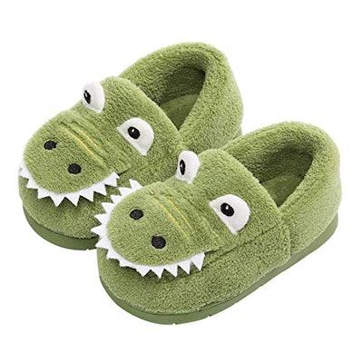 Dinosaur House Slippers