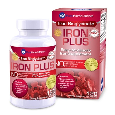 Pure Micronutrients Iron Plus Supplement, 120-Count