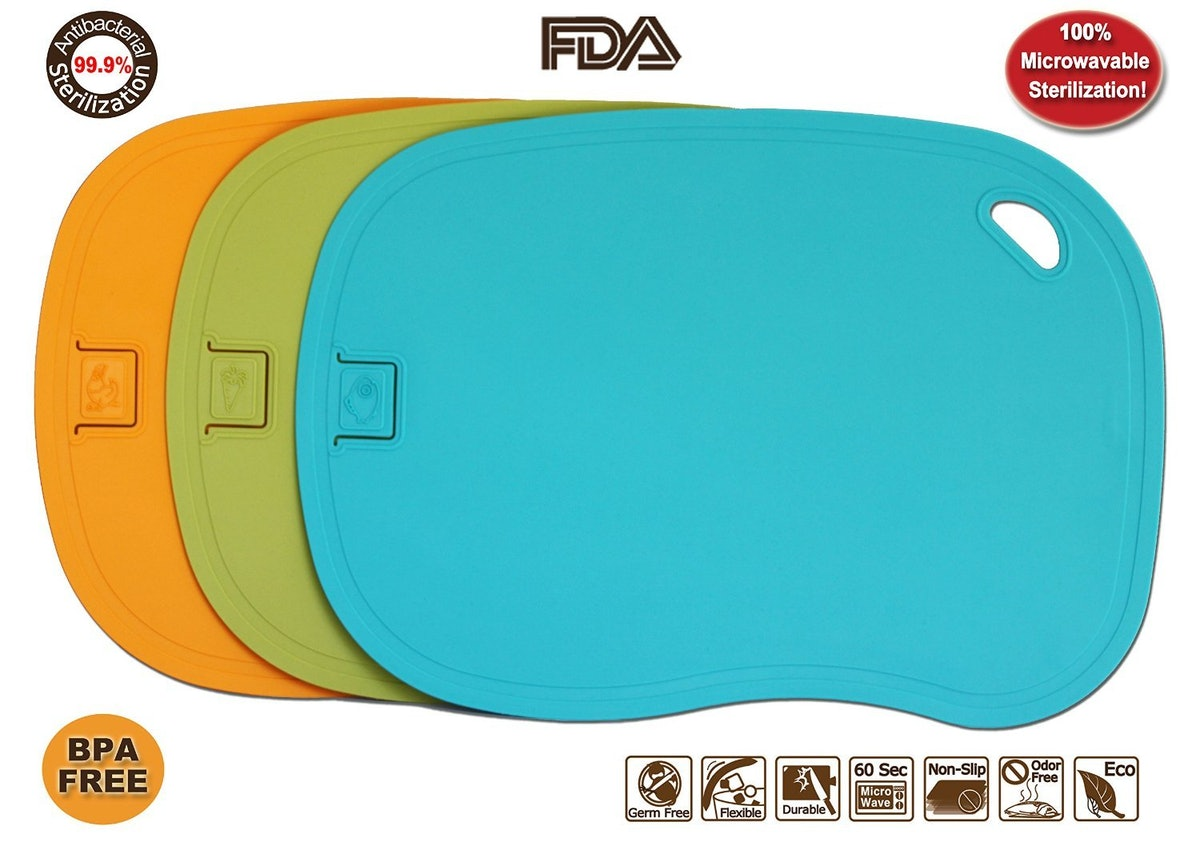 HASHI Ergonomic Design TPE Cutting Board Set of 3