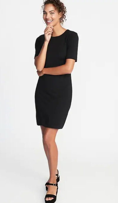 Fitted Crew-Neck Tee Dress