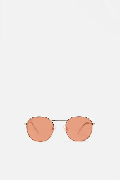 PINK MIRRORED GLASSES