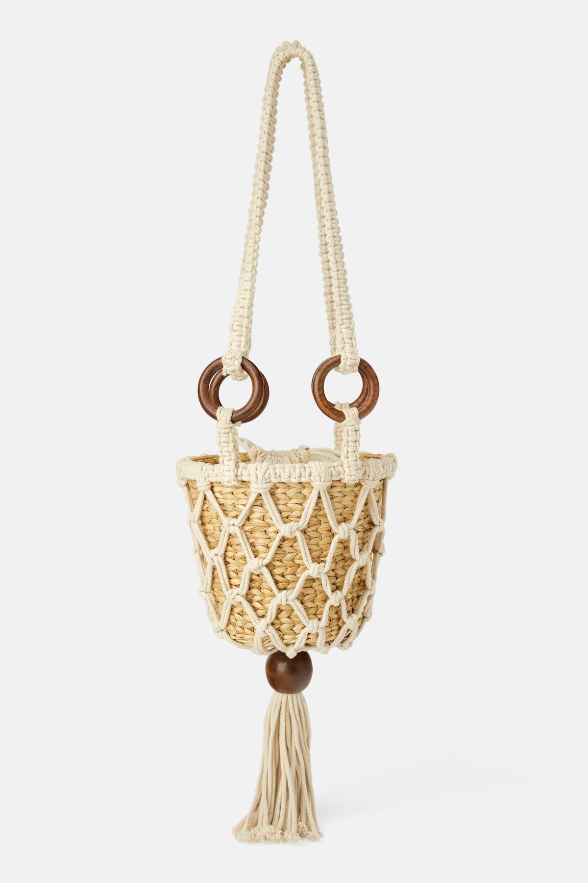 Natural Crossbody Basket