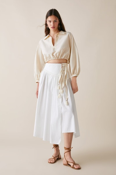 Limited Edition Zara Studio Cropped Blouse