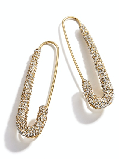 Pavé Safety Pin Earrings