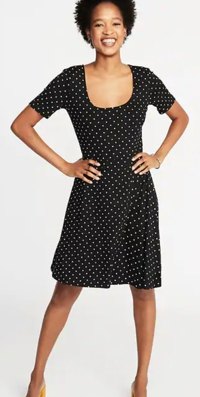 Fit & Flare Jersey Dress