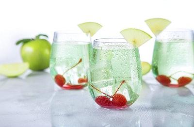 MEKBOK Premium Unbreakable Stemless Wine Glasses