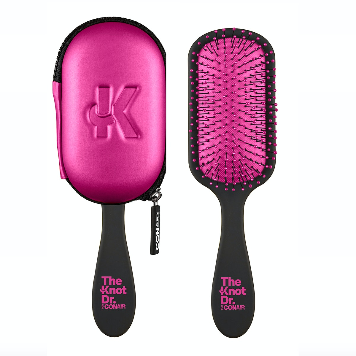The Knot Dr. For Conair The Pro Detangling Hair Brush with Case