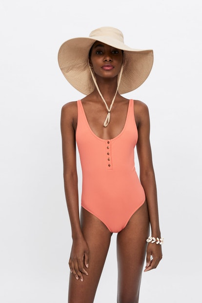 Buttoned Swimsuit