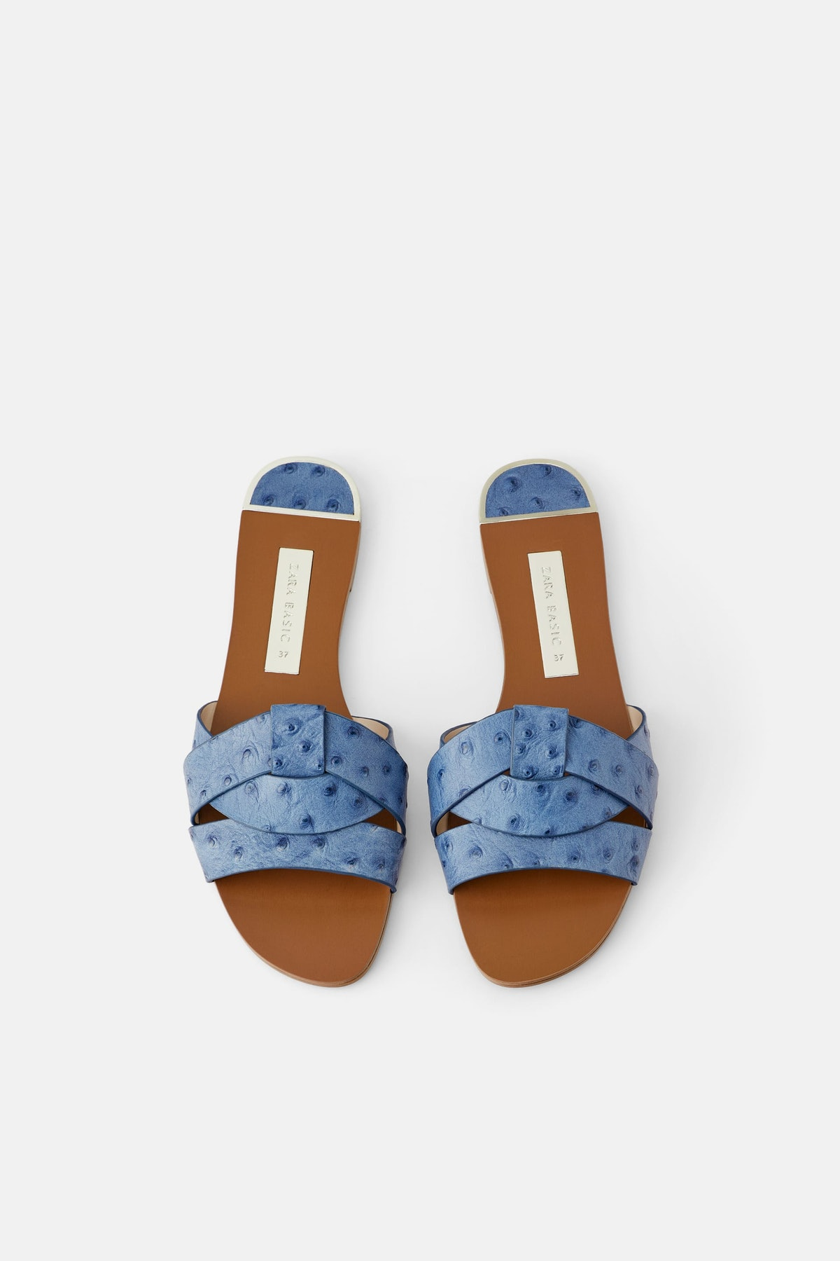 Leather Crossover Sandals