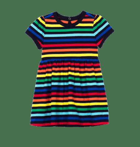 Rainbow Stripe Baby Dress