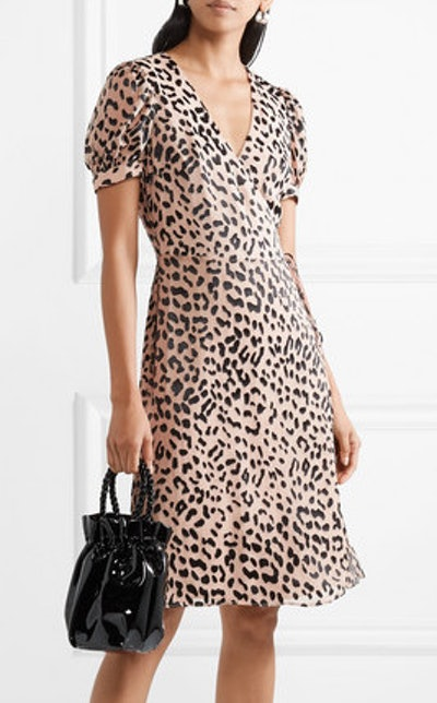 Rosette Fil Coupé Chiffon Wrap Dress