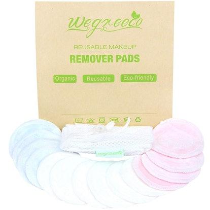 Wegreeco Reusable Bamboo Pads (16 Pack)