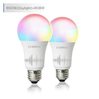 LUMIMAN Smart WiFi Light Bulbs (2 Pack)