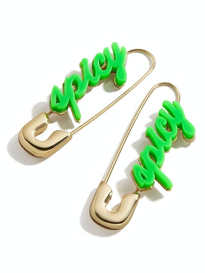 Spicy Safety Pin Earrings