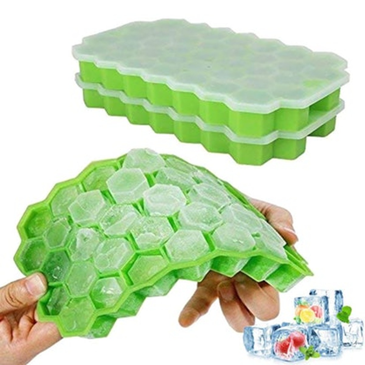 Ouddy Ice Cube Trays (2 Pack)