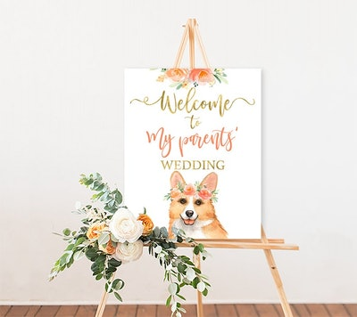 Pet Wedding Printable Welcome Sign