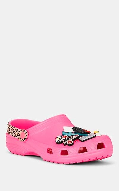 Pink Embellished Rubber Clogs