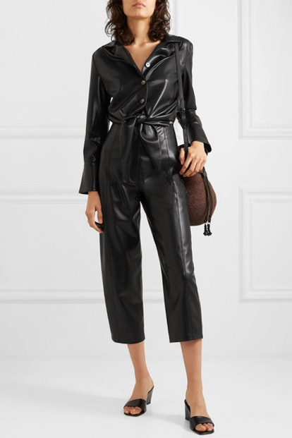 Ana Cutout Vegan Leather Jumpsuit