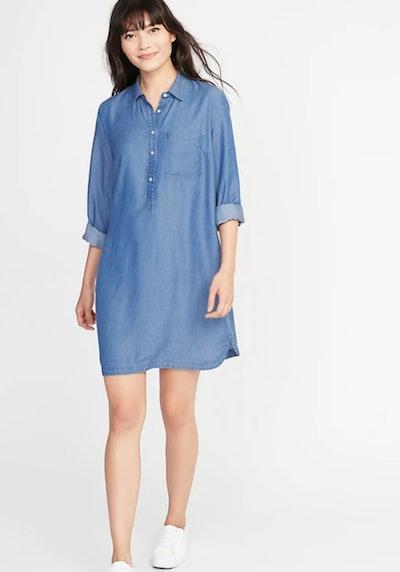 Tencel Chambray Shirt Dress
